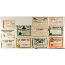 Montana Publishing Company Stock Certificates