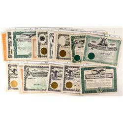 Sixteen Miscellaneous Montana Stock Certificates