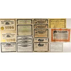 Montana Railroad Bonds & Stock Certificates