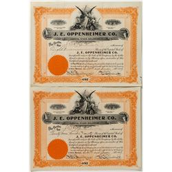 Oppenheimer Stock Certificates