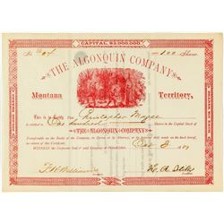 The Algonquin Company Stock Certificate