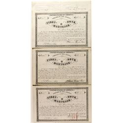 Three First Note Mortgages for Frohner Gold & Silver Mining Company, incl. No. 1