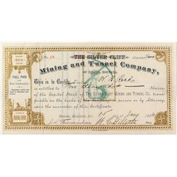 The Silver Cliff Mining & Tunnel Company Stock Certificate
