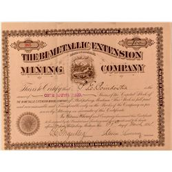 The Bi-Metallic Extension Mining Company Stock Certificate