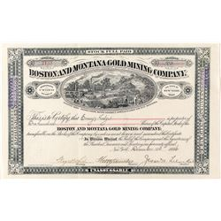Boston & Montana Gold Mining Company Stock Certificate