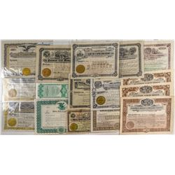 17 Montana Gold Mine Stock Certificates