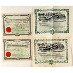 Montana Mine Smelting Stock Certificates
