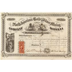 North American Gold & Silver Mining Co. of Montana Stock Certificate, 1869