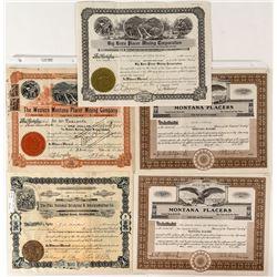Rare Montana Gold Stock Certificates