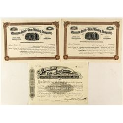 Two Other Gem-Related Montana Mining Stock Certificates
