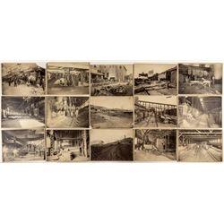 Suite of 15 Original Anaconda Mining Cabinet Cards