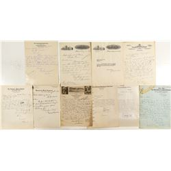 Correspondence to the Montana School of Mines