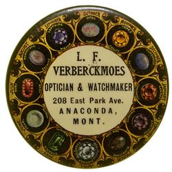 L. F. Verberckmoes, Optician & Watchmaker, Advertising Mirror (Anaconda, Montana)