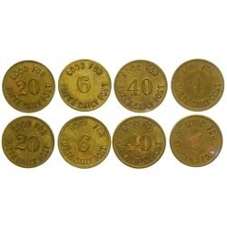 Butte Daily Post Tokens (4 Denominations) (Butte, Montana)