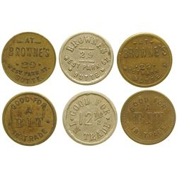 Three Browne's Tokens (Butte, Montana)