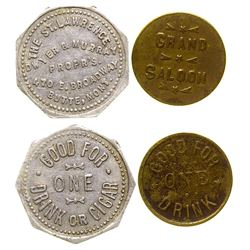 Two Butte Saloon Tokens (Butte, Montana)