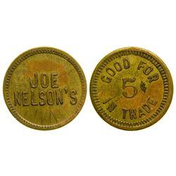 Joe Nelson's Token (Deborgia, Montana)