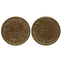 V. A. Moore Token (Ennis, Montana)