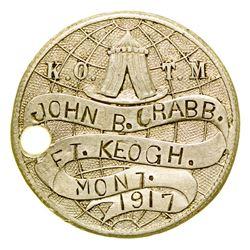 John B. Crabb Medallion (Fort Keogh, Montana)