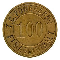 T.C. Power & Bro. Token (R-12) (Fort Maginnis, Montana Territory)