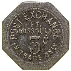 Post Exchange Token (5c) (Fort Missoula, Montana)