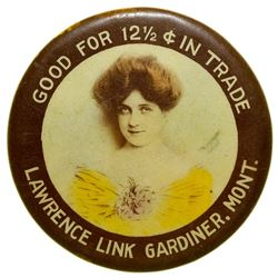 Lawrence Link Advertising Mirror (Gardiner, Montana)