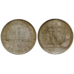 R-11 New Merchants Hotel Bar Token (Helena, Montana Territory)