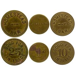 Three Homestead Tokens (Homestead, Montana)