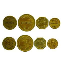 Hub's Huntley Bar Tokens (Huntley, Montana)