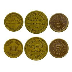Fred's Place Tokens (Meaderville, Montana)