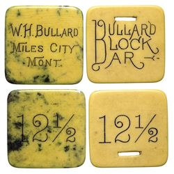 Two Bullard Celluloid Tokens (Miles City, Montana)
