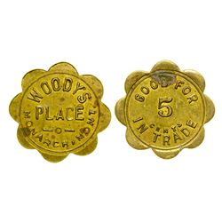 Woody's Place Token (Monarch, Montana)