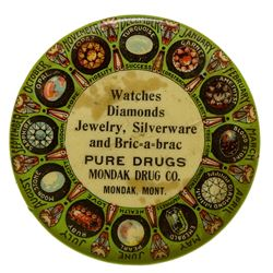 Mondak Drug Company Advertising Mirror (Mondak, Montana)