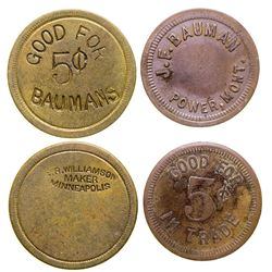 J.F. Bauman Tokens (Power, Montana)