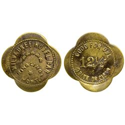 Milwaukee Hotel Bar Token (Ringling, Montana)