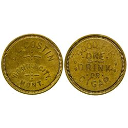 E. L. Costin Token (Virginia City, Montana)