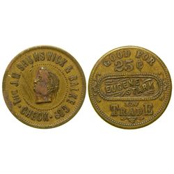 Eugene Stark Saloon Token (Virginia City, Montana)