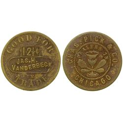Jas. N Vanderbeck Token (Virginia City, Montana)