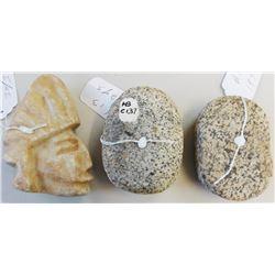 3 Pre-Columbian Stone Items
