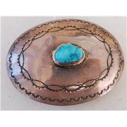Navajo Sterling Silver & Turquoise Buckle