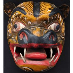 Jaguar Effigy Mexican Festival Mask