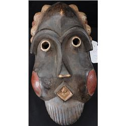Painted & Carved African Wood Mask