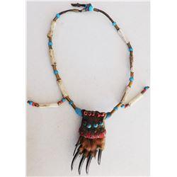 Plains Indian Bone Bead Necklace
