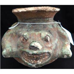 Mayan Jaguar Effigy Pot