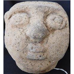 Pre-Columbian Stone Human Head