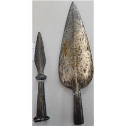 Pair of Spanish Colonial Spearheads