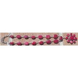 Authentic Ruby Faceted Necklace .925