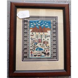 Needle Point Copy of Pictoral Weaving