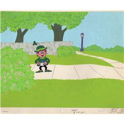 Original Production Cel & Background from a Lucky Charms Commercial (Bill Melendez Studios, 1960s)