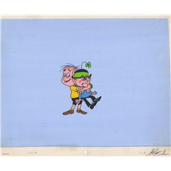 Original Production Cel & Background from Lucky Charms Cereal Commercial (Melendez Studios, 1969)